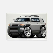 FJ Cruiser Silver Car Rectangle Magnet