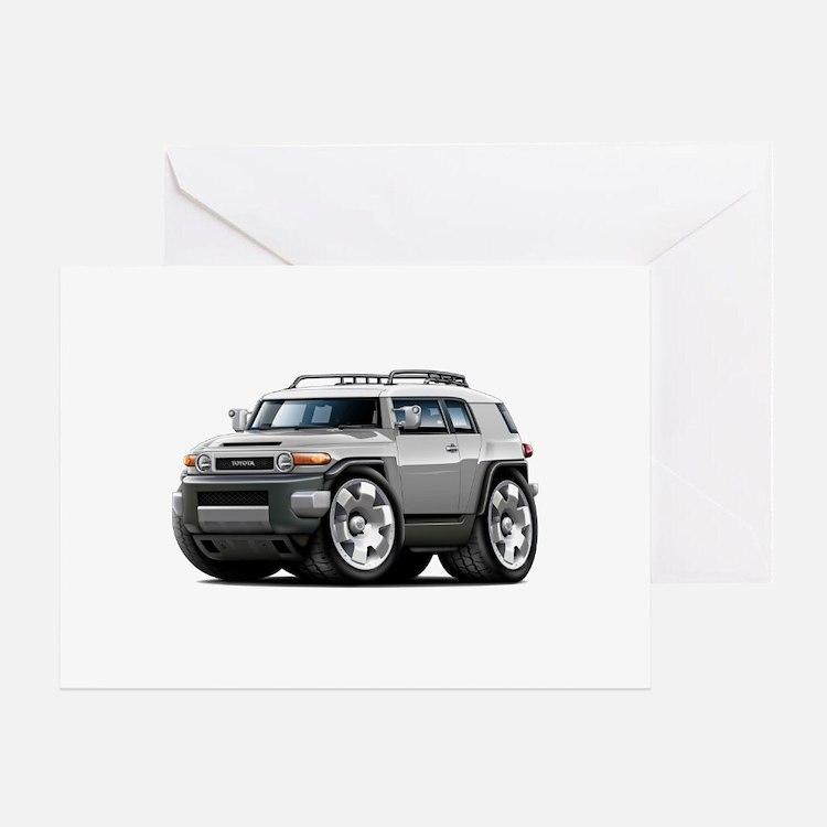 FJ Cruiser Silver Car Greeting Card