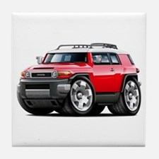 FJ Cruiser Red Car Tile Coaster
