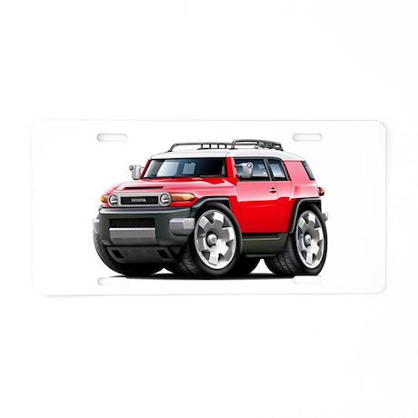 FJ Cruiser Red Car Aluminum License Plate