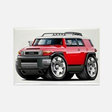 FJ Cruiser Red Car Rectangle Magnet