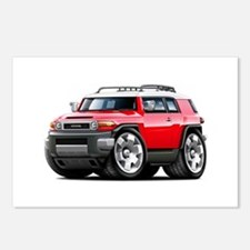 FJ Cruiser Red Car Postcards (Package of 8)