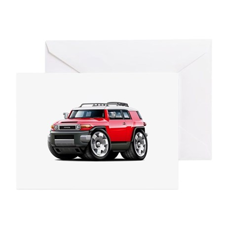 FJ Cruiser Red Car Greeting Cards (Pk of 10)