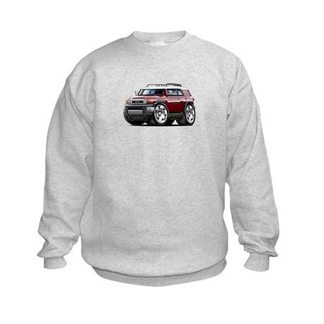 FJ Cruiser Maroon Car Kids Sweatshirt