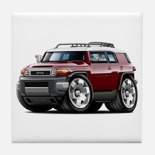 FJ Cruiser Maroon Car Tile Coaster