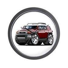 FJ Cruiser Maroon Car Wall Clock