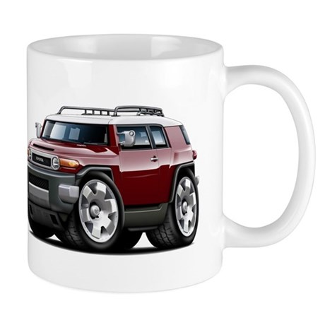FJ Cruiser Maroon Car Mug