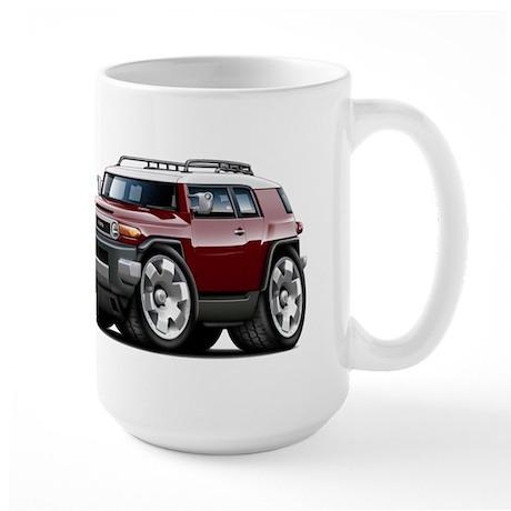 FJ Cruiser Maroon Car Large Mug