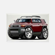 FJ Cruiser Maroon Car Rectangle Magnet