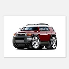 FJ Cruiser Maroon Car Postcards (Package of 8)