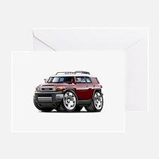 FJ Cruiser Maroon Car Greeting Card