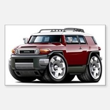 FJ Cruiser Maroon Car Sticker (Rectangle)