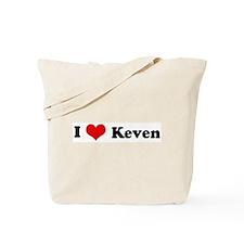 I Love Keven Tote Bag
