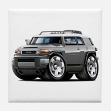 FJ Cruiser Grey Car Tile Coaster