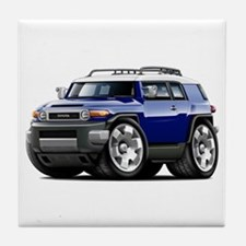 FJ Cruiser Dark Blue Car Tile Coaster