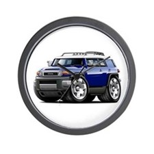 FJ Cruiser Dark Blue Car Wall Clock