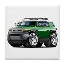 FJ Cruiser Green Car Tile Coaster