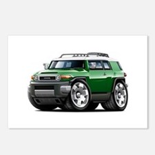 FJ Cruiser Green Car Postcards (Package of 8)