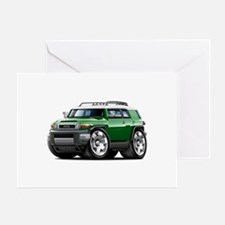 FJ Cruiser Green Car Greeting Card