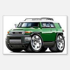 FJ Cruiser Green Car Sticker (Rectangle)