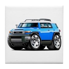 FJ Cruiser Blue Car Tile Coaster