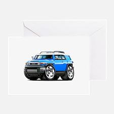 FJ Cruiser Blue Car Greeting Card