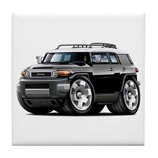 FJ Cruiser Black Car Tile Coaster