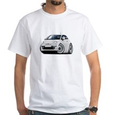 Fiat 500 White Car Shirt