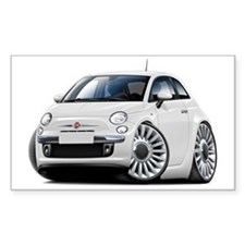 Fiat 500 White Car Decal