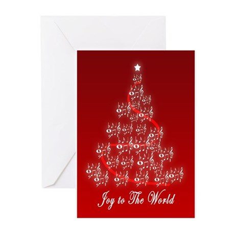 Joy to the World Music N Greeting Cards (Pk of 10)