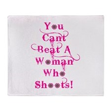 Domestic Violence Self Defens Throw Blanket