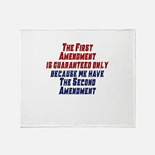 2nd Amendment Gun Throw Blanket
