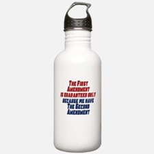 2nd Amendment Gun Water Bottle