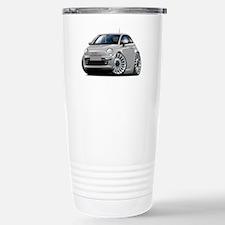 Fiat 500 Silver Car Travel Mug