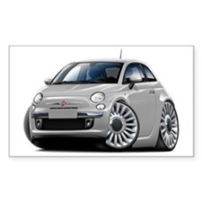 Fiat 500 Silver Car Decal