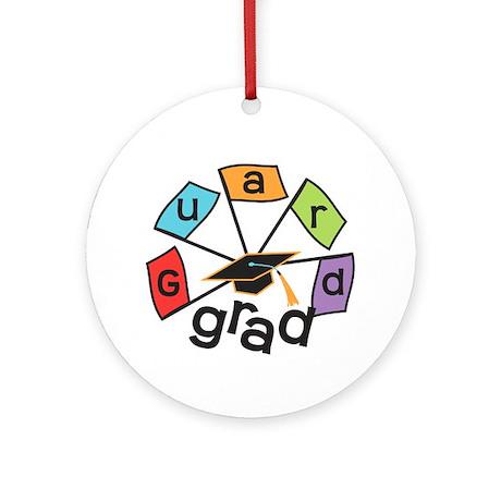 Guard Grad Flags Ornament (Round)