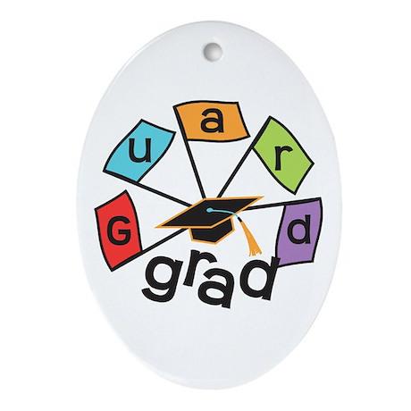 Guard Grad Flags Ornament (Oval)