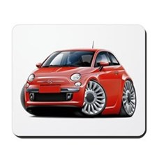 Fiat 500 Red Car Mousepad
