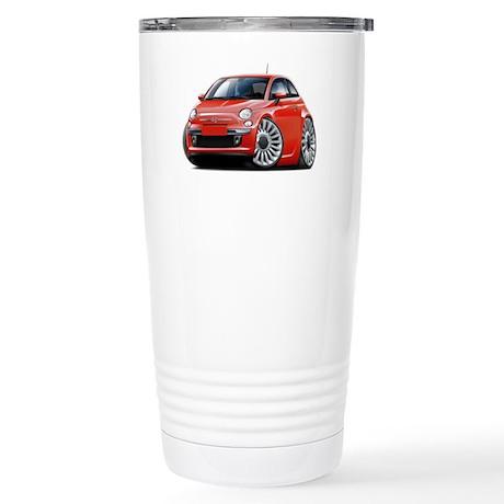 Fiat 500 Red Car Stainless Steel Travel Mug