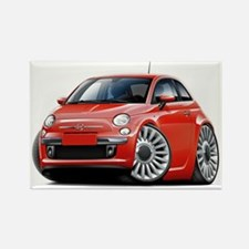 Fiat 500 Red Car Rectangle Magnet