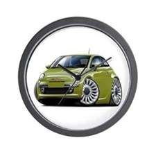Fiat 500 Olive Car Wall Clock