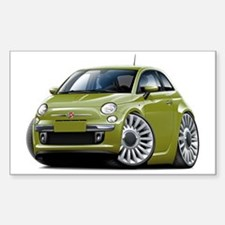 Fiat 500 Olive Car Decal