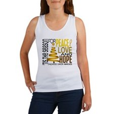 Christmas 1 Childhood Cancer Women's Tank Top