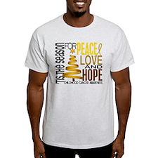 Christmas 1 Childhood Cancer T-Shirt