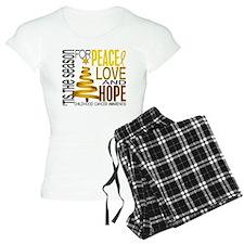 Christmas 1 Childhood Cancer Pajamas
