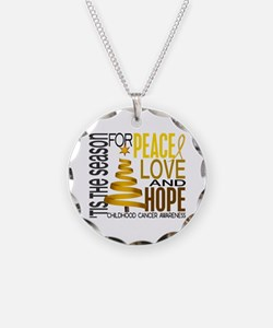 Christmas 1 Childhood Cancer Necklace