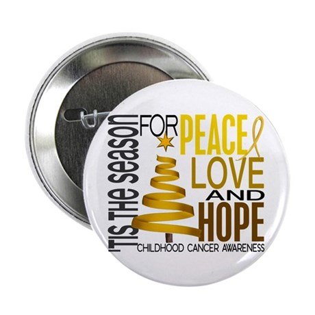 "Christmas 1 Childhood Cancer 2.25"" Button (10 pack"
