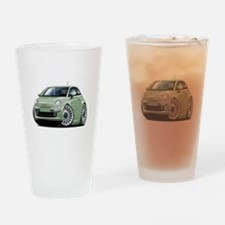 Fiat 500 Lt. Green Car Drinking Glass