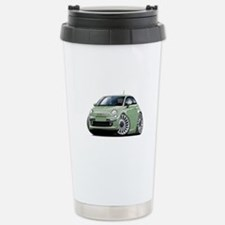 Fiat 500 Lt. Green Car Travel Mug