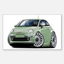 Fiat 500 Lt. Green Car Decal